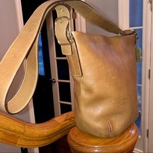 Coach classic leather bucket bag